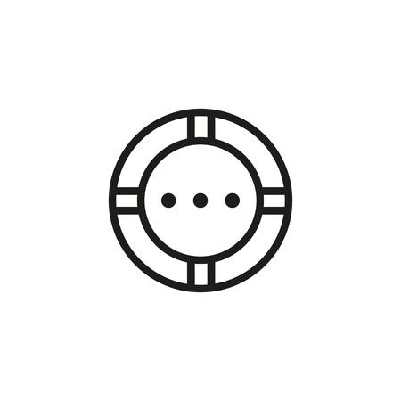 Lifebuoy line icon illustration on white background. Stock Vector - 98541344