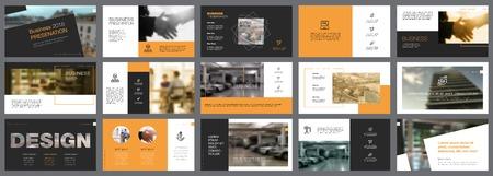 Fifteen Business Slide Templates Set illustration.