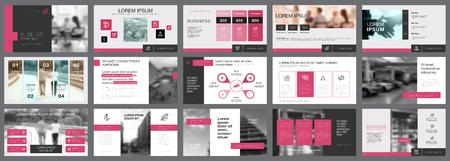 Fifteen Teamwork Slide Templates Set Illustration