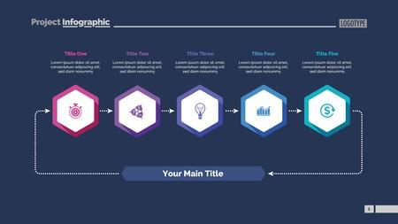 Five Elements Cycle Slide Template design illustration.