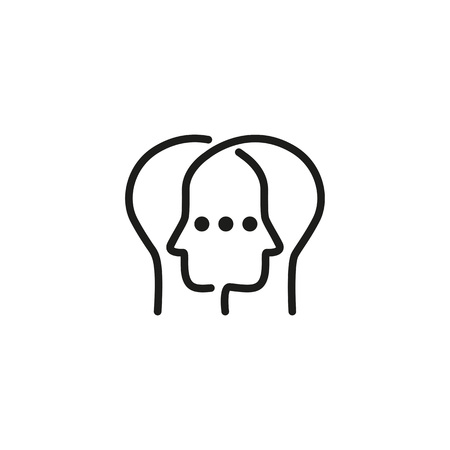 Stealing personality icon illustration on white background.