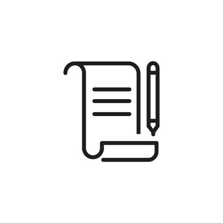 Signing document icon Illusztráció