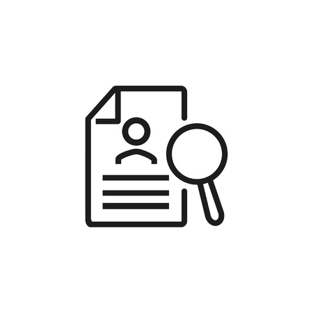 Searching for personal data icon