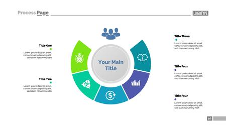 Five elements of main idea diagram template.
