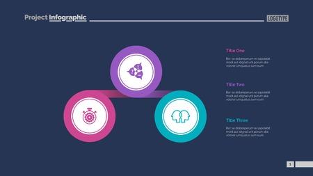 Three Linked Circles Slide Template