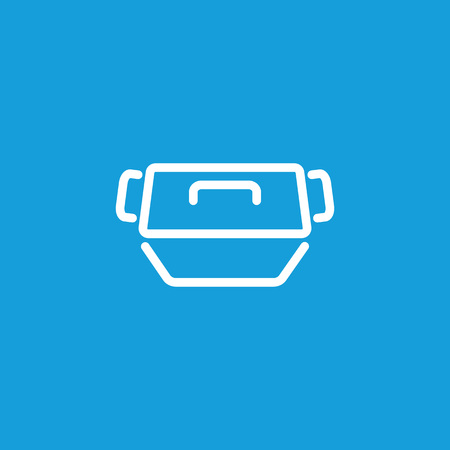 Baking pan with cover icon isolated on light background. Illustration