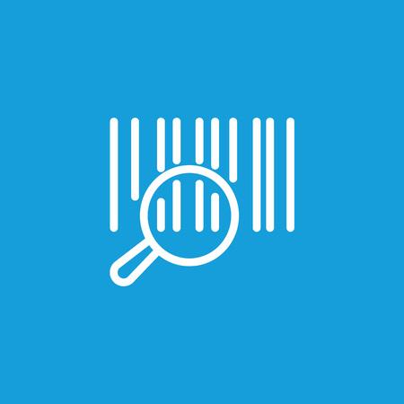 Bar code icon isolated on light background. Çizim