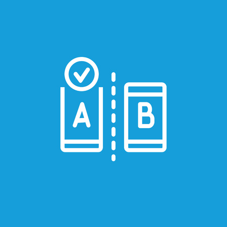 A/B testing icon isolated on light background.