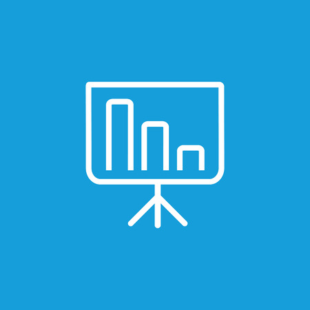 Icon of business presentation. Graph, financial report, projection screen. Seminar concept. Can be used for topics like analytics, management, marketing, education