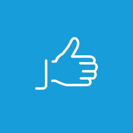 Hand showing thumb up gesture line icon Illustration
