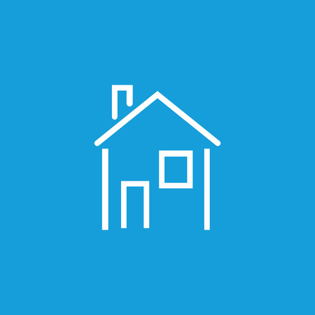 Icon of house. Apartment, building, home. Housing concept. Can be used for topics like real estate, mortgage, housing.  イラスト・ベクター素材
