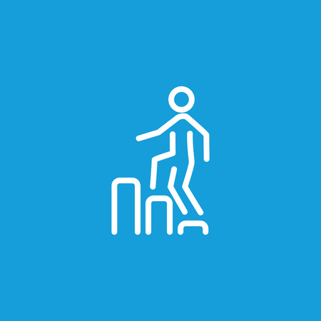 Icon of man going upstairs on diagram.