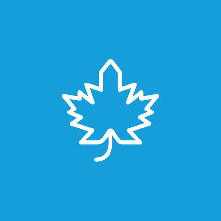 Maple Leaf Line Icon