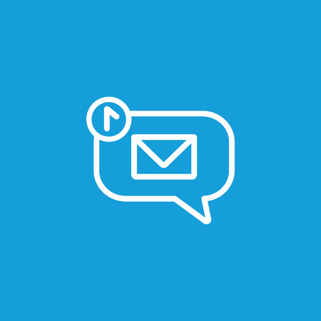 Notification of New Message Line Icon Illustration