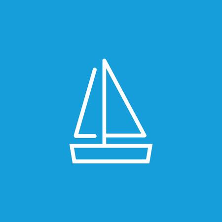Sailboat line icon  イラスト・ベクター素材