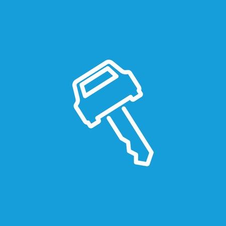 Car key line icon Ilustrace