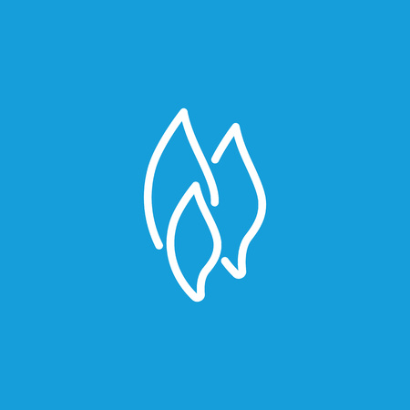 Flame shapes line icon Иллюстрация