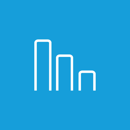 Icon of growing bar chart. Graph, statistics, investment. Profit concept. Can be used for topics like business analysis, success, finance Illustration