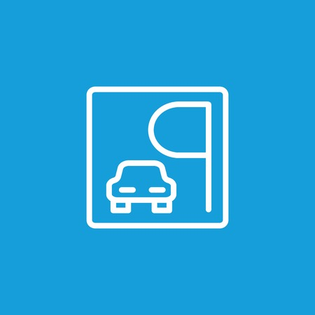 Icon of parking sign. Street, vehicle, driving. Navigation concept. Can be used for topics like transportation, traffic, regulation Stock Illustratie