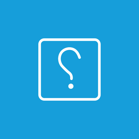 Icon of question mark. Interrogative clause, asking, curiosity. FAQ concept. Can be used for topics like punctuation, expression, quiz