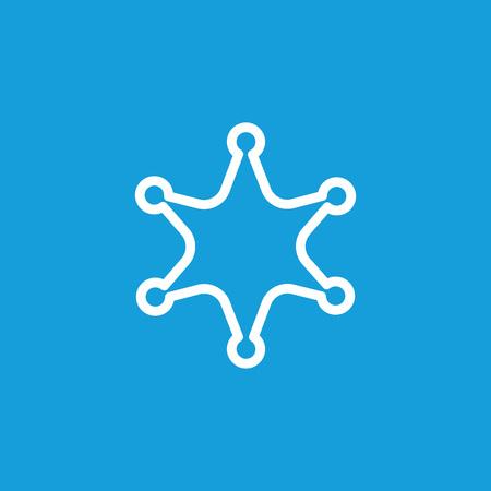 Sheriff star line icon