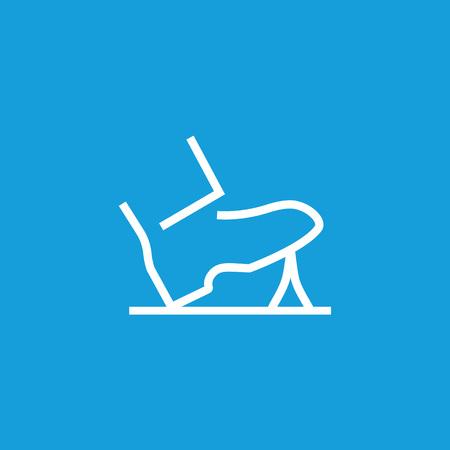 Shoe stepping icon isolated on plain background. Illustration