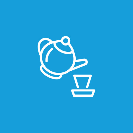 Tea Pot and Cup Line Icon