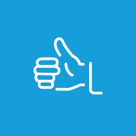 Thumb up gesture line icon