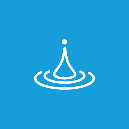 Line icon of water drop. Splash, puddle, oil. Water concept. Can be used for topics like nature, environment, weather Illustration