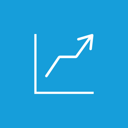 Growth chart line icon