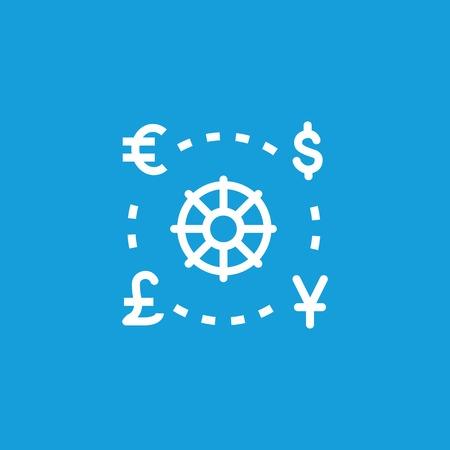 Icon Of World Currencies Money Finance Symbols Exchange Concept