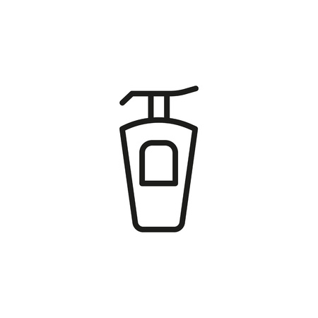 Line icon of perfume bottle. 向量圖像
