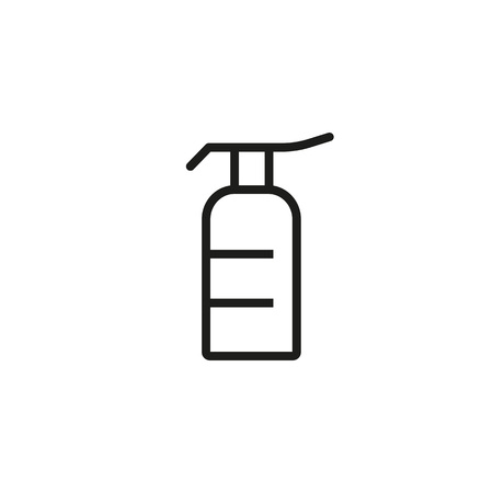 Line icon of shower gel. Shampoo, soap, hair conditioner. Cosmetic products concept. For topics like beauty, skincare, hygiene Vettoriali
