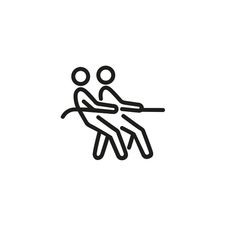 Tug of war line icon Stock Illustratie