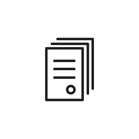 Icon of document with seal. Contract, agreement, information. Paperwork concept. Can be used for topics like company, organization, official documentation