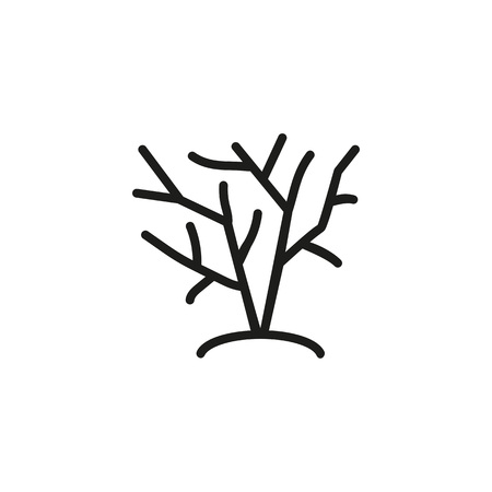 Icon of growing bush. Shrubbery, tree, plant. Nature concept. Can be used for topics like parkland, garden, forest