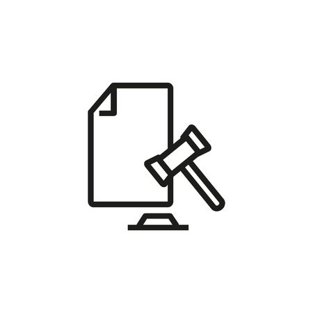 Court decision icon