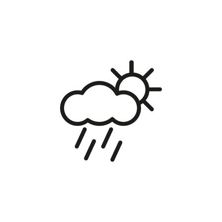 Rain and sun icon. Illustration