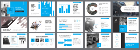 Template of white and blue slides for presentation and reports. Business and logistics concept can be used for infographic design, workflow layout, advertising poster