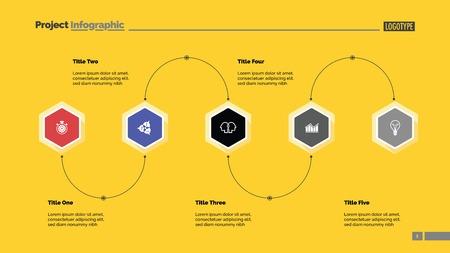 Five Step Process Diagram Slide Template