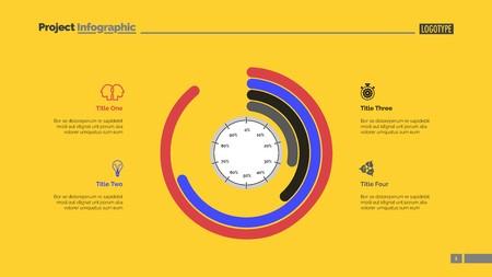 Informative infographics slide template Ilustração