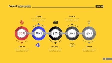Marketing strategy slide template Illustration