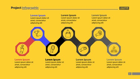 Octagon Infographic Diagram Slide Template