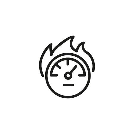 Burning speed gauge icon