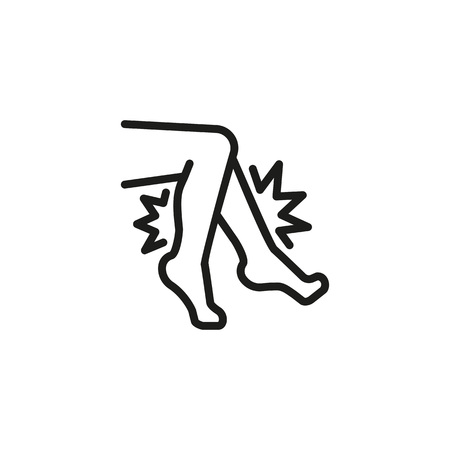 Pain in knee. Thin line icon