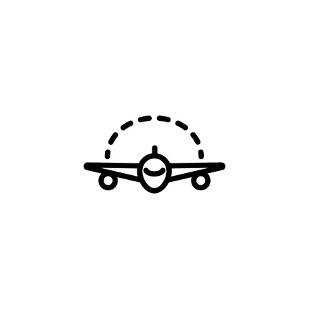 Icon of space between plane wings. Measurement, maquette, aeroplane. Modern aircraft concept. Can be used for topics like designing jet, engineering, aviation