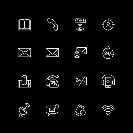 Set of connection line icons