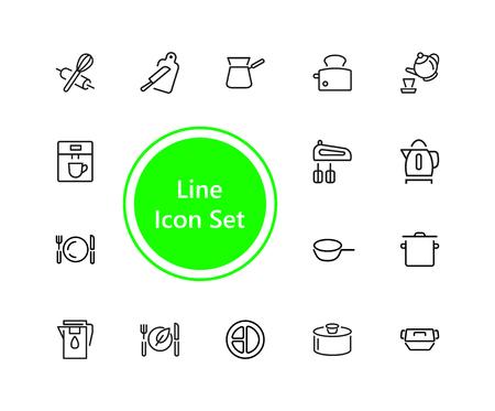 Kitchen tool icon set
