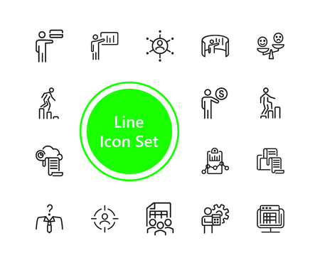Set of Businessman Line Icons