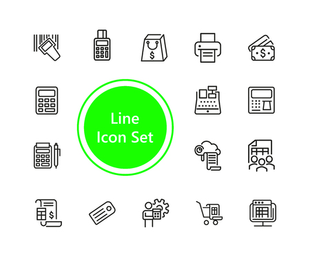 Set of Payment Line Icons Illustration